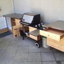 Outdoor-Küche offen