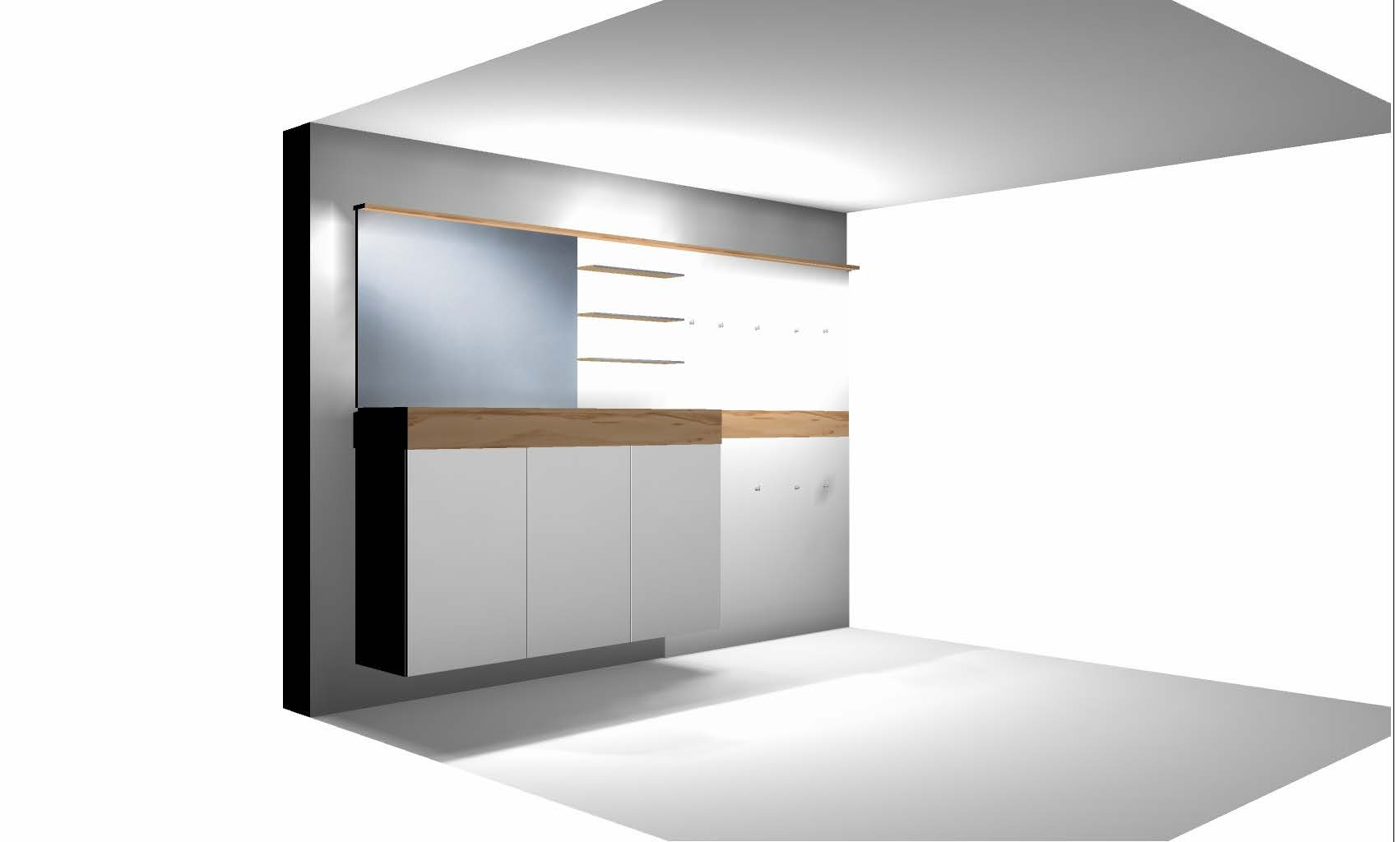 3D-Plan Badezimmer vom Tischler