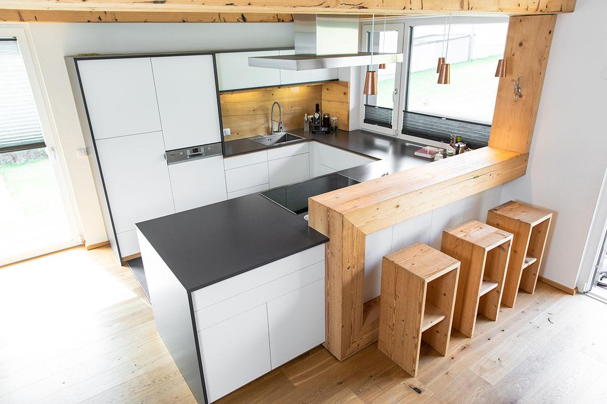 Küche vom Tischler, von oben.